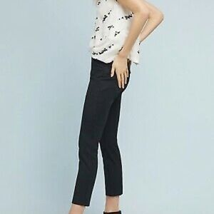 Anthropologie size 29 black suede straight pants.